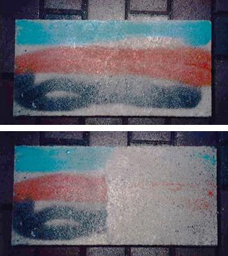 塗布後の落書き除去